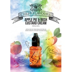 Concentré Apple Pie & Irish Custard cream 30 ml Chefs Flavours (pack de 3)